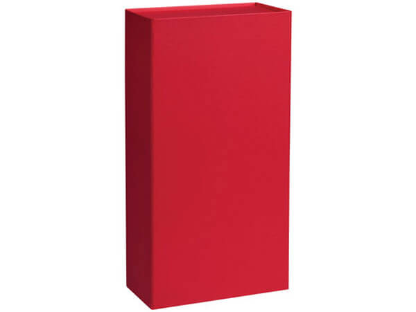 "Red Magnetic Closure Wine Gift Boxes, 7x3.5x13.5"", 3 Pack"