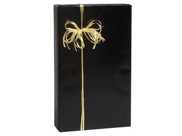 "Black Gloss 24""x85' Roll Gift Wrap"