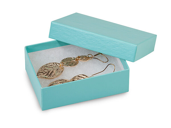 Aqua Blue Jewelry Gift Boxes 3x2 25x1 Quot 100 Pack Cotton