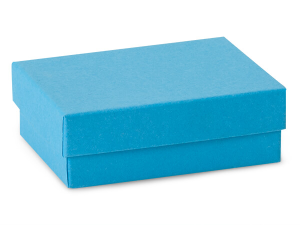 "Blue Jazz Jewelry Gift Boxes, 3x2.25x1"", 100 Pack, Cotton Fill"
