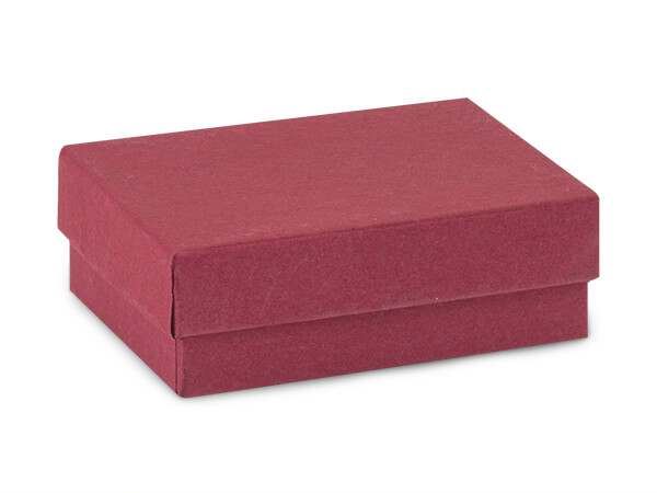 "Merlot Jewelry Gift Boxes, 3x2.25x1"", 100 Pack, Fiber Fill"