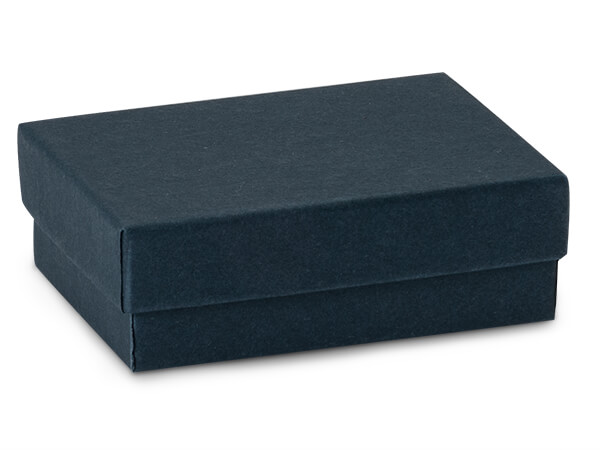 "Navy Blue Jewelry Gift Boxes, 3x2.25x1"", 100 Pack, Cotton Fill"