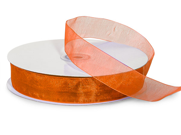 "Copper Sheer Organza Ribbon, 7/8""x100 yards"