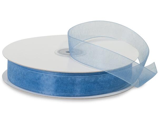 "Denim Blue Sheer Organza Ribbon, 7/8""x100 yards"