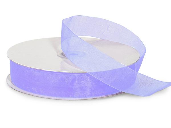 "Lavender Sheer Organza Ribbon 7/8""x100 yds 100% Nylon"