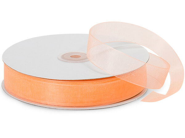 "Melon Sheer Organza Ribbon 7/8""x100 yds 100% Nylon"