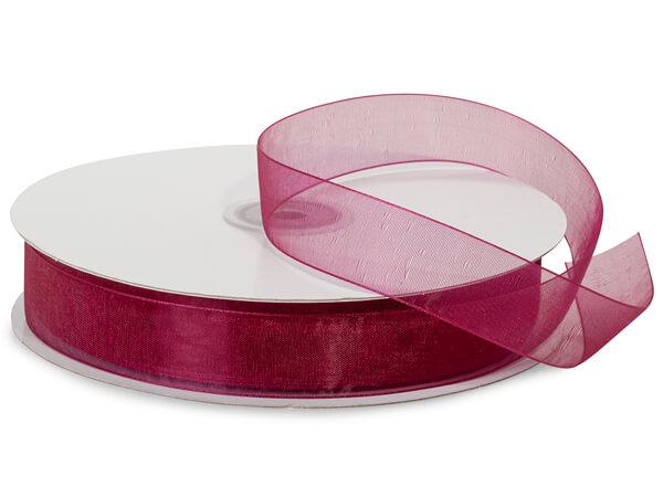"Purple Raisin Sheer Organza Ribbon, 7/8""x100 yards"