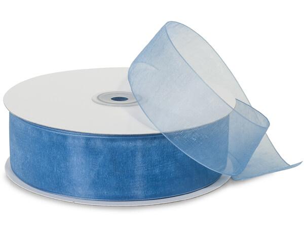 "Denim Blue Sheer Organza Ribbon, 1-1/2""x100 yards"