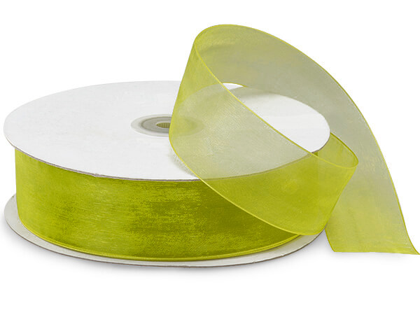 "Kiwi Sheer Organza Ribbon 1-1/2""x100 yds 100% Nylon"