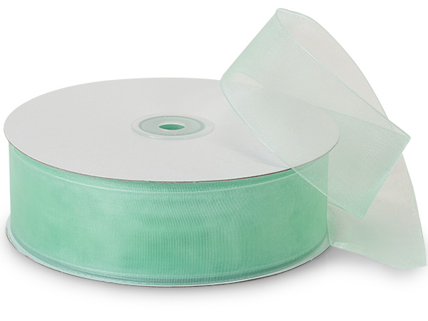 "Cool Mint Sheer Organza Ribbon, 1-1/2""x100 yards"