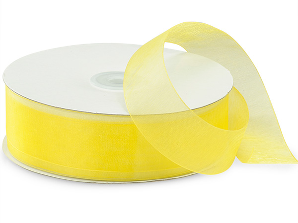 Yellow Sheer Organza