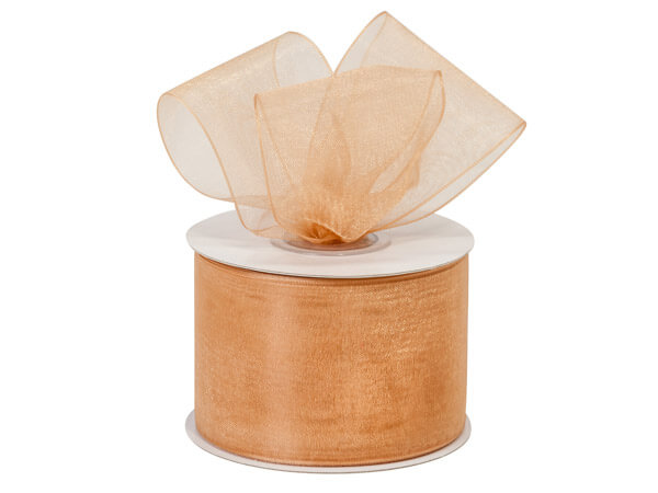 "Champagne Sheer Organza Ribbon, 2""x25 yards"