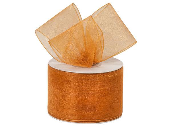 """Gold Sheer Organza Ribbon, 2""""x25 yards"""