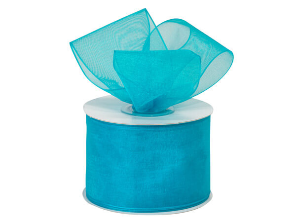 """Robins Egg Blue Sheer Organza Ribbon , 2""""x25 yards"""