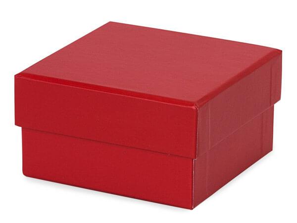 """*Red Square Rigid Gourmet Box, Petite 3.75x3.75x2"""", 3 Pack"""