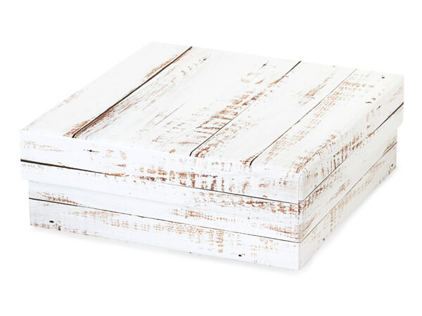 "Distressed Wood Gourmet Box, Medium 5.75x5.75x2"" 24 Pack"