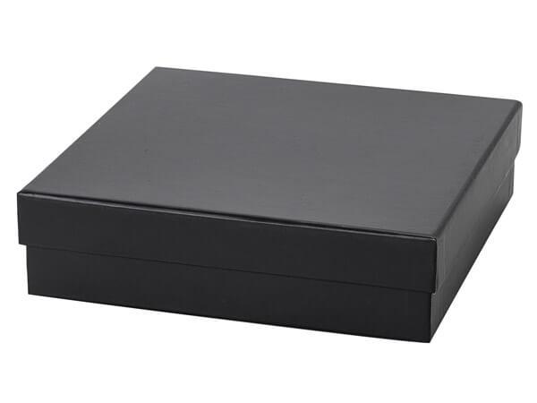"Black Rigid Gourmet Box, X-Large 7.75x7.75x2"", 18 Pack"