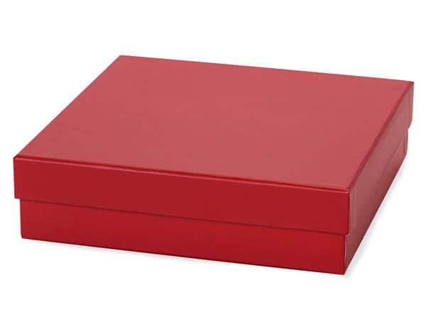 "Red Square Rigid Gourmet Box, X-Large 7.75x7.75x2"", 18 Pack"