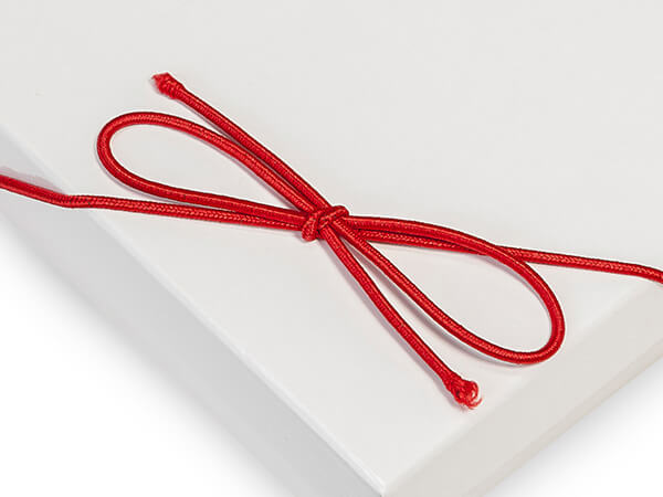 """10"""" Matte Red Stretch Cord Loops with Pre-Tied Bows, 1000 Pack"""