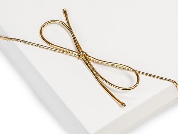 "50-Pk 16""  Metallic Gold Stretch Loops 1/16"" Round Elastic Cord"