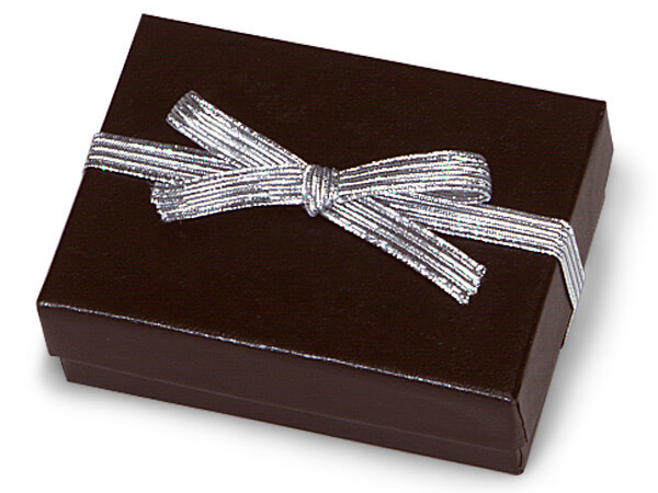 """1000 6"""" Met. Silver Stretch Loops 1/4"""" Wide Elastic Ribbon with Bow"""