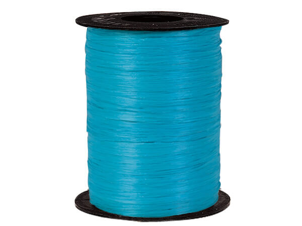 Aqua Matte Raffia Ribbon, 500 yards