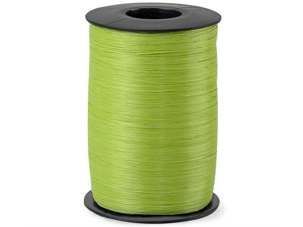 Celadon Matte Raffia Ribbon, 500 yards