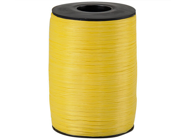 Daffodil Matte Raffia Ribbon, 500 yards