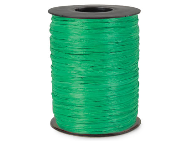 Kelly Matte Raffia Ribbon, 500 yards