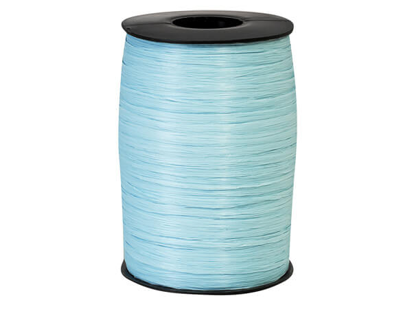 Light Blue Matte Raffia Ribbon, 500yards