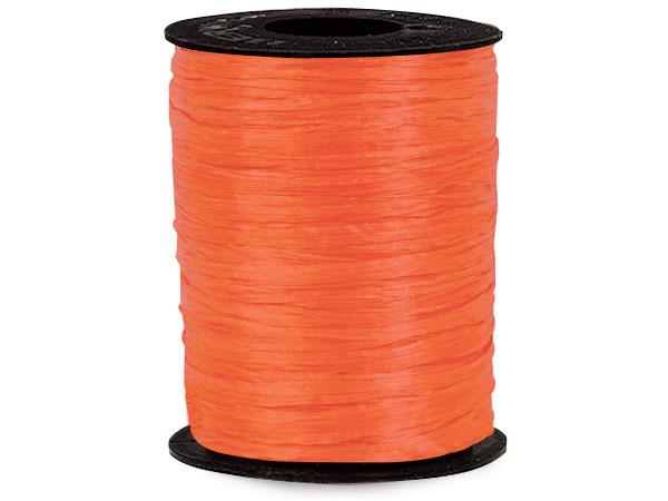 Orange Matte Raffia Ribbon, 500 yards