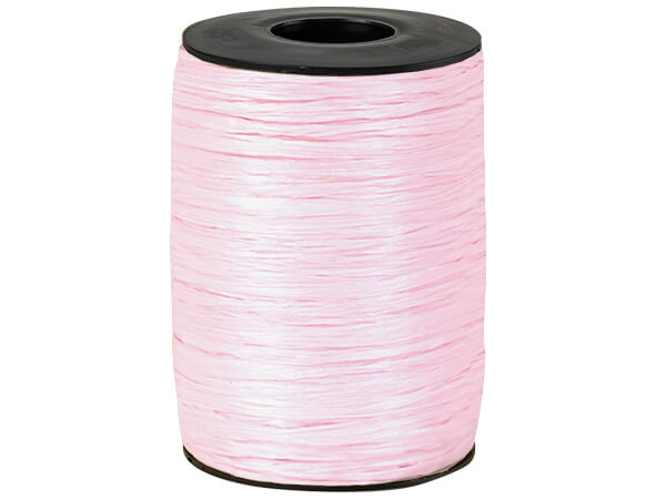 Pink Matte Raffia Ribbon, 500 yards