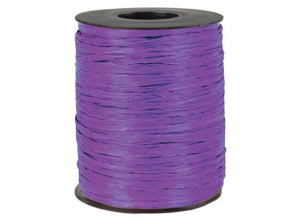 Purple Matte Raffia Ribbon, 500 yards