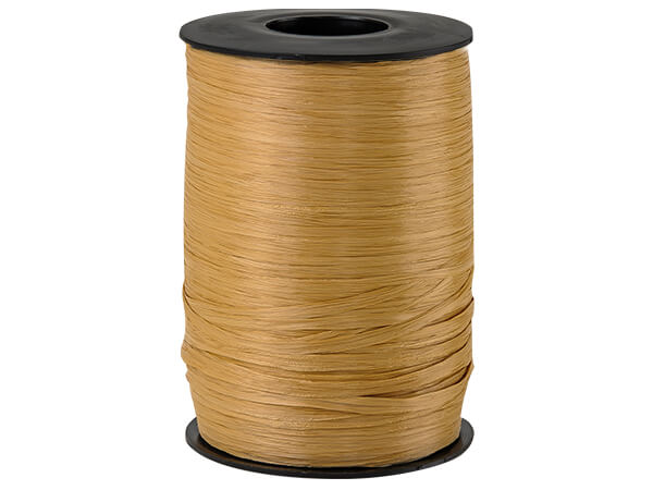 Kraft Matte Raffia Ribbon, 500 yards