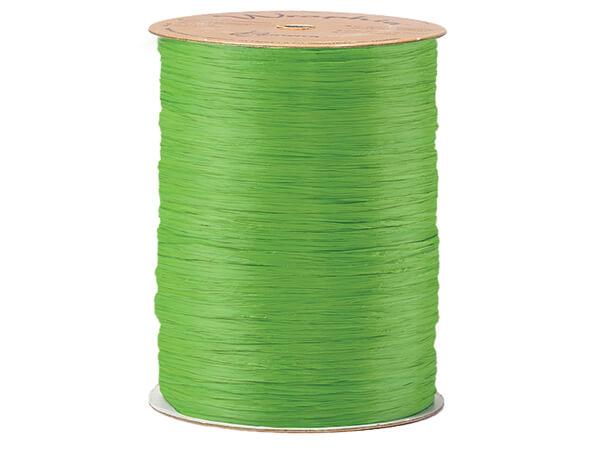 Apple Green Matte Raffia Ribbon, 100 yards