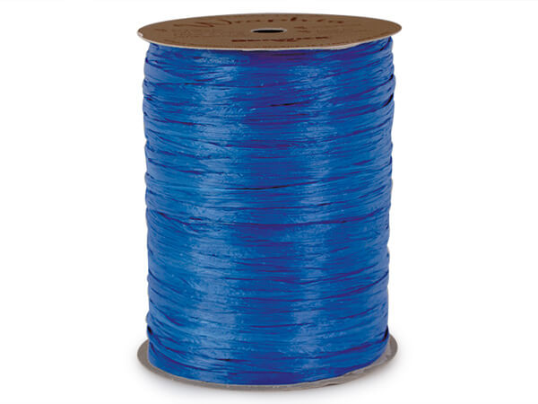 Blue Cobalt Matte Raffia Ribbon, 100 yards