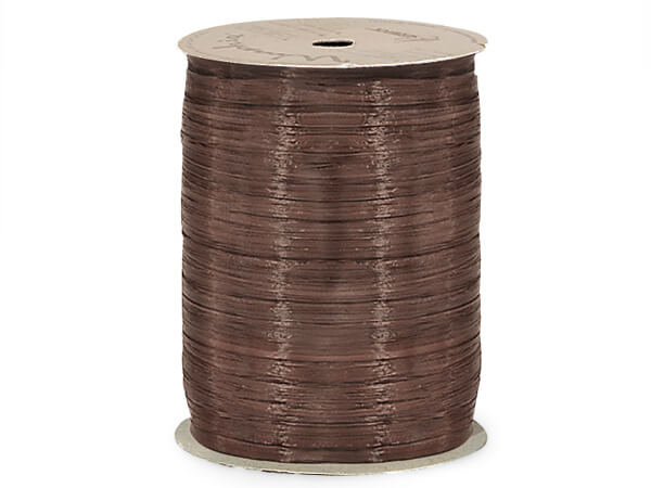 Chocolate Matte Raffia Ribbon