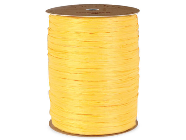 Daffodil Yellow Matte Raffia Ribbon