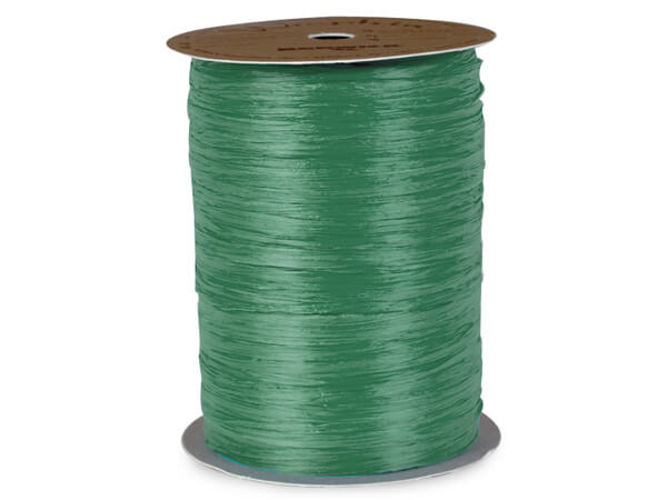 Emerald Matte Raffia Ribbon, 100 yards