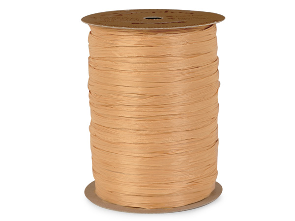 Gold Matte Raffia Ribbon, 100 yards