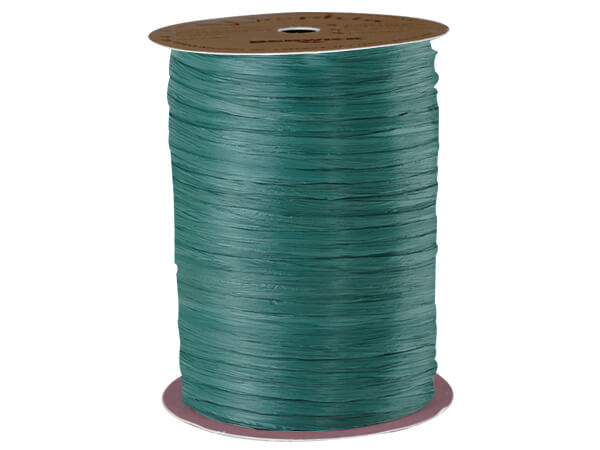 Hunter Matte Raffia Ribbon, 100 yards