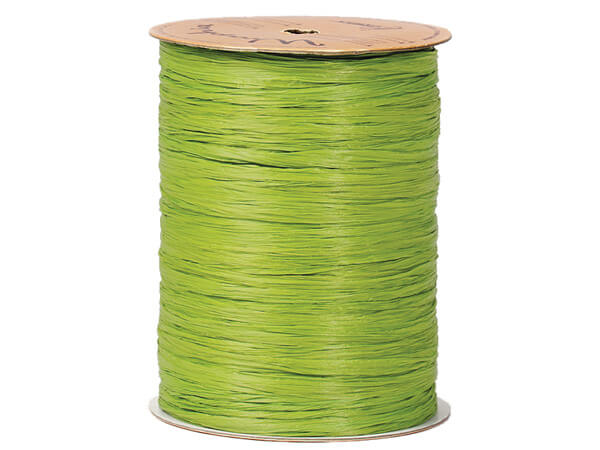 Jungle Green Matte Raffia Ribbon, 100 yards