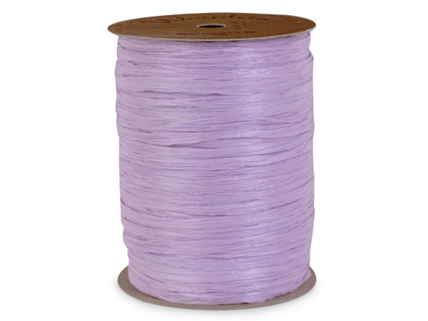 Lavender Matte Raffia Ribbon, 100 yards