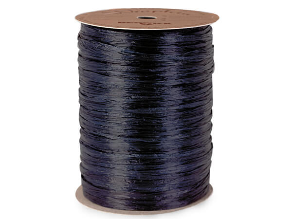 Navy Blue Matte Raffia Ribbon, 100 yards