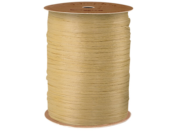 Oatmeal Matte Raffia Ribbon, 100 yards