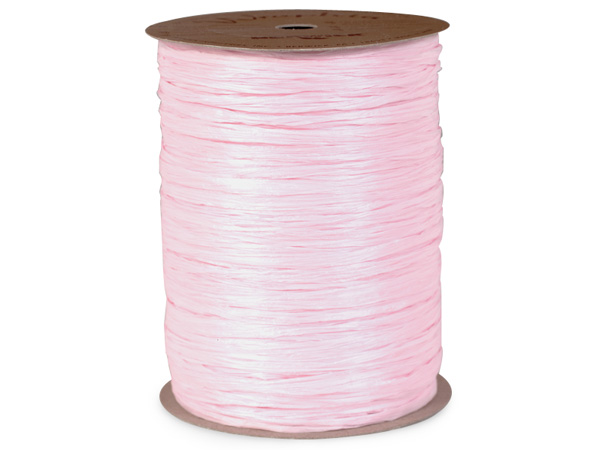Pink Matte Raffia Ribbon, 100 yards