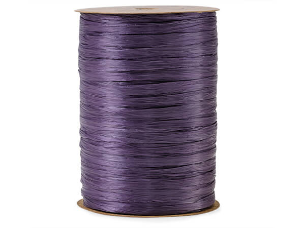Plum  Matte Raffia     Ribbon, 100 yards