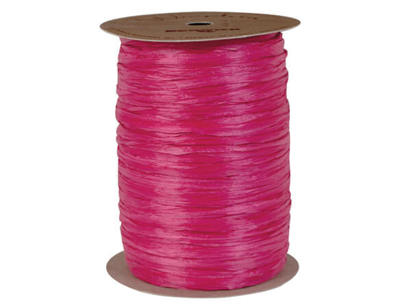 Raspberry Matte Raffia Ribbon, 100 yards