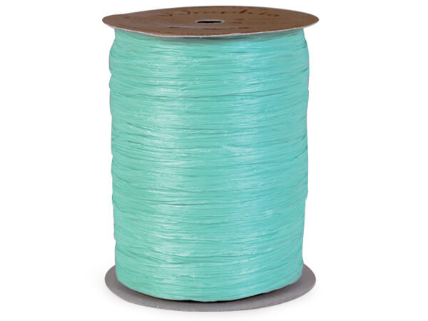 Robins Egg Matte Raffia Ribbon, 100 yards