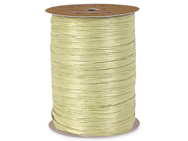 Sage Matte Raffia Ribbon, 100 yards